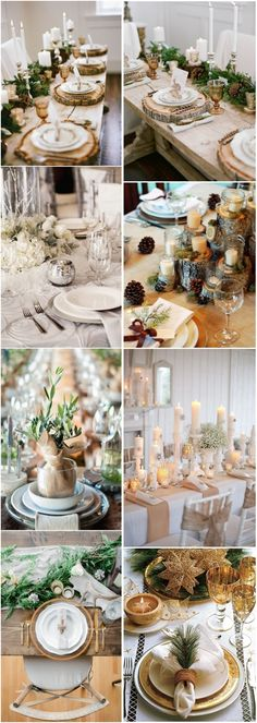 30 Spectacular Winter Wedding Table Setting Ideas   http://www.deerpearlflowers.com/spectacular-winter-wedding-table-setting-ideas/