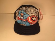 1633bcf44f4f2 Marvel Comics Captain America Logo Avengers Cap Snapback Costume Cosplay Hat   CaptainAmerica  BaseballCap Clearance