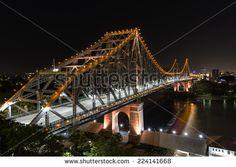 BRISBANE, AUSTRALIA: Story Bridge by Night - stock photo