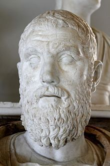 Macrinus (Latin: Marcus Opellius Severus Macrinus Augustus;[a] c.165 – June 218) was Roman Emperor from April 217 to 8 June 218. He reigned jointly with his young son Diadumenianus. Macrinus was by origin  from Mauretania Caesariensis. A member of the equestrian class, he became the first emperor who did not hail from the senatorial class. Before becoming emperor, Macrinus served under Emperor Caracalla as a praetorian prefect . He murdered Caracalla and become emperor.