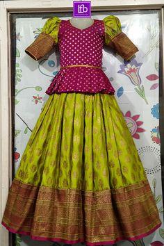Girls Frock Design, Long Dress Design, Baby Dress Design, Kids Lehanga Design, Baby Design, Frocks For Girls, Dresses Kids Girl, Long Frocks For Kids, Indian Dresses For Kids
