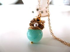 FREE shipping  NEW Organic  lovely necklace with by anthology27, $30.95