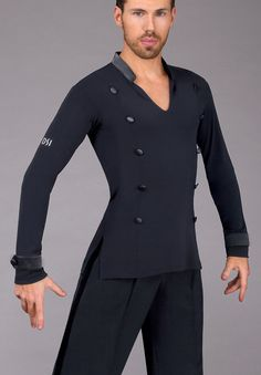 DSI Mens Max Latin Shirt 4077 | Dancesport Fashion @ DanceShopper.com
