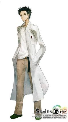 Hungry Whispers: Yu / Okabe Rintaro (I think that's the character's name if I remember correctly) from Stein;s Gate.    Lab coat ref?