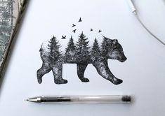 Zeichnungen: Filigrane Mischwesen aus Flora und Fauna - illustration alfred basha feature