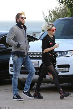 Date night: Miley Cyrus and Liam Hemsworth grabbed a bite to eat at Nobu in Malibu, California, on Friday