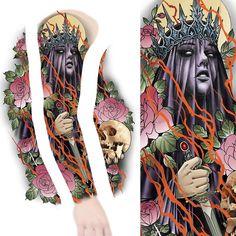 Another new sleeve design up for grabs #tattoo #tattoos #tattooist #tattooing #tattooer #tattooed #tattooart #tattooartist #tattooworkers #tattoodesign #tattoosleeve #sleevetattoo #darkart #darkqueen #crown #roses #rosetattoo #flowers #flowertattoo #art #design #drawing #sketch #newtraditional #neotrad #neotradsub #neotraditional #ink #uktta #uktattoo