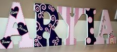 Custom Hand Painted Pink/Purple themed letter