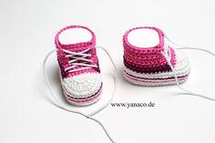 Babyschuhe für Mädchen  10cm von Yanaco auf DaWanda.com