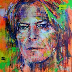 ARTFINDER: David Bowie by Marta Zawadzka - Energetic painting in strong colors. Painting is a way to show the wonder of various aspects of existence, experiencing joy every day, discovering love and ...