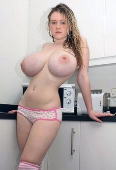 Gorgeous bottomlesd nude wife in tartan skirt