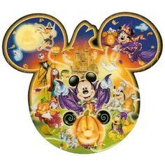 Disney Post Card - Halloween Mickey Pumpkin Ears Logo