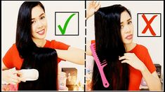 How To Properly Brush/ Comb & Detangle Knots on Your Hair To Avoid Break...