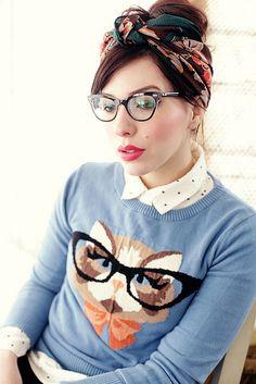 ca55f207bdc9 nerdy kitty sweater    Keiko Lynn Grify Na Makeup