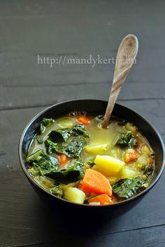 Mandy kertje és konyhája: Vöröslencsés káposztás leves