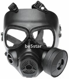 Excellent M04 Airsoft Gas Masks Protecter Full Face Goggles Fan Black