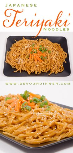 Teriyaki Noodles - Devour Dinner