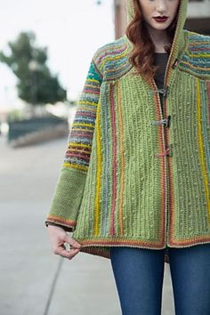 Ravelry: Chromatic Hoodie pattern by Annie Modesitt, this is gorgeous! From Interweave Crochet Winter 2014