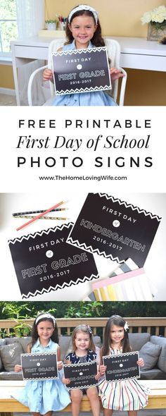Capture your kiddo's special back to school moments with these FREE printable 1st Day of School chalkboard signs! Pre-school through 5th…