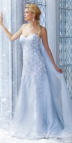 Elsa's wedding dress, from Alfred Angelo