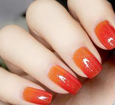1 Pc 6ml Thermal Color Changing Nail Polish Varnish Peel Off Varnish Red to Orange # 23809