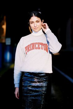 Must copy this look before the weather warms up too much! (but with a Columbia sweatshirt of course)