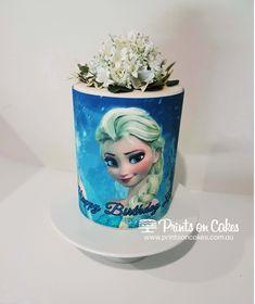 Disney Frozen inspired, Elsa edible icing cake topper Elsa Cakes, Frozen Cake, Edible Cake, Cake Art, Disney Frozen, Cupcake Toppers, Snow Globes, Icing, Cake Decorating