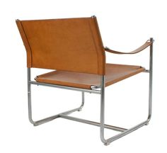 Pair of Leather and Chrome Armchairs | From a unique collection of antique and modern lounge chairs at http://www.1stdibs.com/furniture/seating/lounge-chairs/