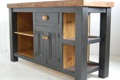 reclaimed wood kitchen island cupboard by eastburn country furniture Reclaimed Wood Kitchen, Furniture, Wooden Kitchen, Cabinet Door Designs, Painted Kitchen Island, Interior Furniture, Country Kitchen Designs, Kitchen Island Plans, Reclaimed Wood Kitchen Island