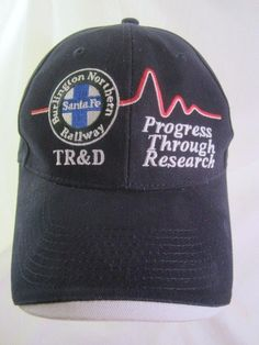 BNSF Hat Burlington Northern Santa Fe Ball Cap Progress Research TR&D Hat #BurlingtonNorthernSantaFe #BNSFRailway