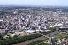 VISTA ÁREA ENTRADA CIDADE VINDO MONTEVIDEU, RIO GRANDE