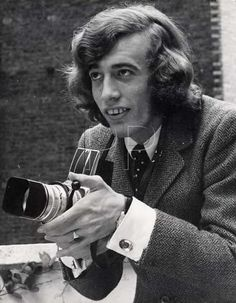 Robin Gibb of Bee Gee's fame in his younger days with a Hasselblad 500C/6eo