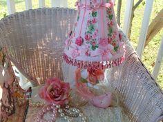 Romantic Shabby Chic Decor   ..... Gorgeous Shabby Chic Lamp Shade Pink Roses Romantic Home Decor ...