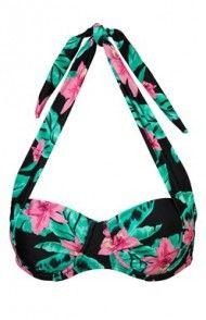 Góra od bikini (czarny/w kwiaty) String Bikinis, Shopping, Dental Floss