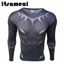 Itsameal Black Panther Cosplay Men's T-Shirt Civil War Tee 3D Printed Raglan Milk Fiber Fitness Male Crossfit Tops Long Sleeve //Price: $US $11.81 & FREE Shipping //     #hashtag1