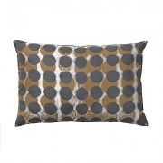 SHADOWS Rectangle Feather Cushion with Grey Spots