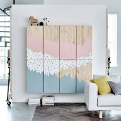 Chic ikea hacks to update your cheap furniture. Ikea hacks to take your bland furniture to chic. These 12 fashionista-approved DIY hacks will help you update your decor and make your Ikea purchases unique. For more DIY project ideas go to Domino. Ikea Hacks, Ikea Pinterest, Ivar Regal, Big Blank Wall, Blank Walls, Diy Casa, Best Ikea, Diy Home, Deco Design