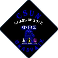 Greek Life Sorority Phi Beta Sigma  Upload your pictures and decorate your graduation cap! Professionally Printed Grad Caps