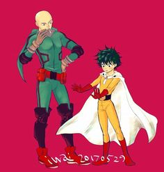 Deku and Miles Morales l See more 'Crossover' images on Know Your Meme! Best Crossover, Fandom Crossover, Anime Crossover, Saitama, One Punch Man Funny, Chinese Cartoon, Cartoon Crossovers, Buko No Hero Academia, Boku No Hero Academy