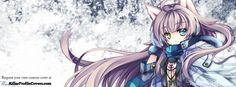 anime Cat girl facebook timeline cover