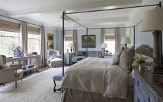 Ginger-barber-design-portfolio | master bedroom | pale blue walls | iron bed | just gorgeous!