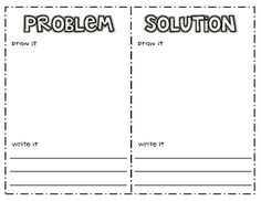 This printable allows students the opportunity to identify both the problem and solution (in either narrative or expository tests), illustrate it, ...