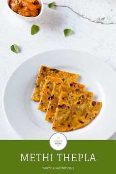 Methi Thepla is a popular Indian flatbread, and it is considered as a healthy option for breakfast. Savory Bread Recipe, Breakfast Bread Recipes, Quick Bread Recipes, Brunch Recipes, Beef Recipes, Yummy Recipes, Veggie Recipes Healthy, Healthy Meals, Best Indian Recipes