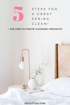 Do you feel overwhelmed when it comes to spring cleaning? Click here to learn my top 5 tips and get your FREE cleaning checklist!