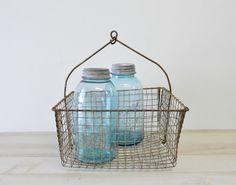 50s vintage wire basket