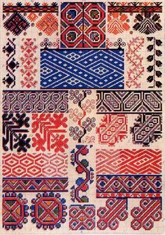 Russian Textile Design-based on a long history of ancient and meaningful symbols. Motifs Textiles, Textile Patterns, Print Patterns, Folk Embroidery, Cross Stitch Embroidery, Embroidery Patterns, Russian Embroidery, Embroidery Sampler, Art Textile