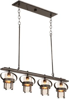 Kalco 2895VI4 Light Island Pendant from the Bexley Collection showcases the simplicity and grace of industrial materials. While Kalcos exclusive Vintage Iron finish and Clear Seeded Glass shades look as if they was repurposed from a factory, they exist in a way that is uniquely elegant and only adds to the attractive quality of these pieces. Kalco Bexley Collection - Brand Lighting Discount Lighting - Call Brand Lighting Sales 800-585-1285 to ask for your best price!