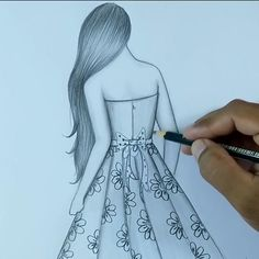 Disney Drawings Sketches, Girl Drawing Sketches, Girly Drawings, Art Drawings Sketches Simple, Girl Sketch, Simple Sketch Drawing, Sketch Art, Realistic Drawings, Easy Pencil Drawings