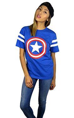 Marvel Womens Captain America Logo Varsity Football Tee M... http://www.amazon.com/dp/B00QQW6USM/ref=cm_sw_r_pi_dp_1Jwmxb1XX4CC1