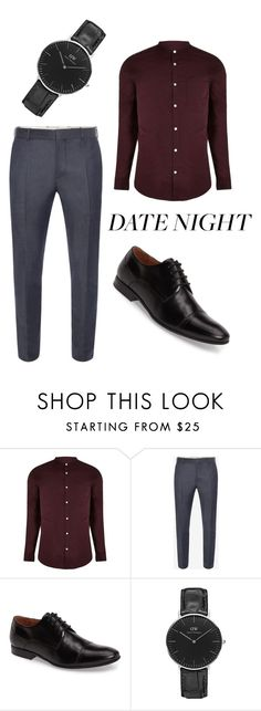 """""""Untitled #239"""" by katharine-renee ❤ liked on Polyvore featuring River Island, Alexander McQueen, Kenneth Cole, Daniel Wellington, men's fashion and menswear"""